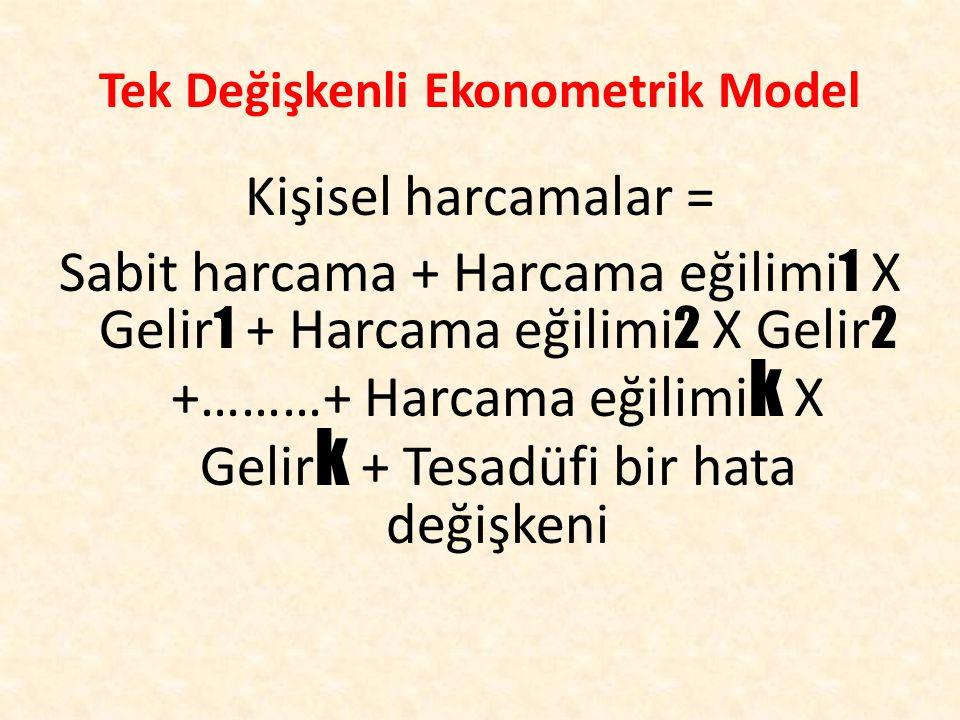 Tek Değişkenli Ekonometrik Model