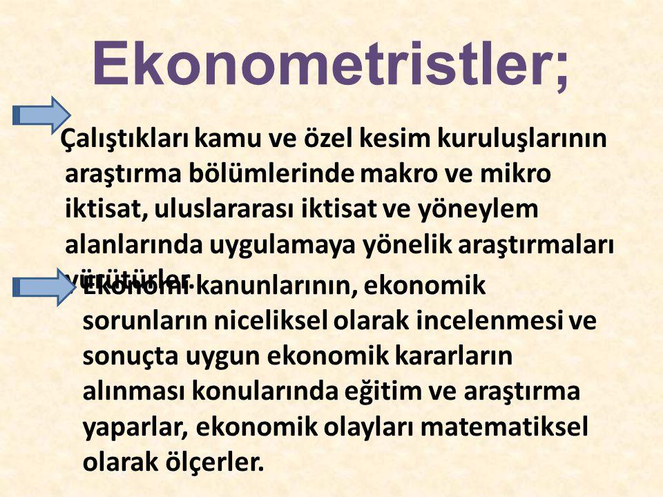 Ekonometristler;