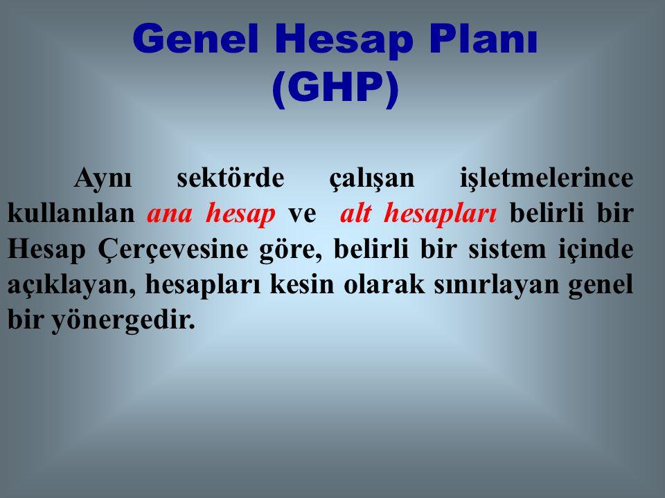 Genel Hesap Planı (GHP)