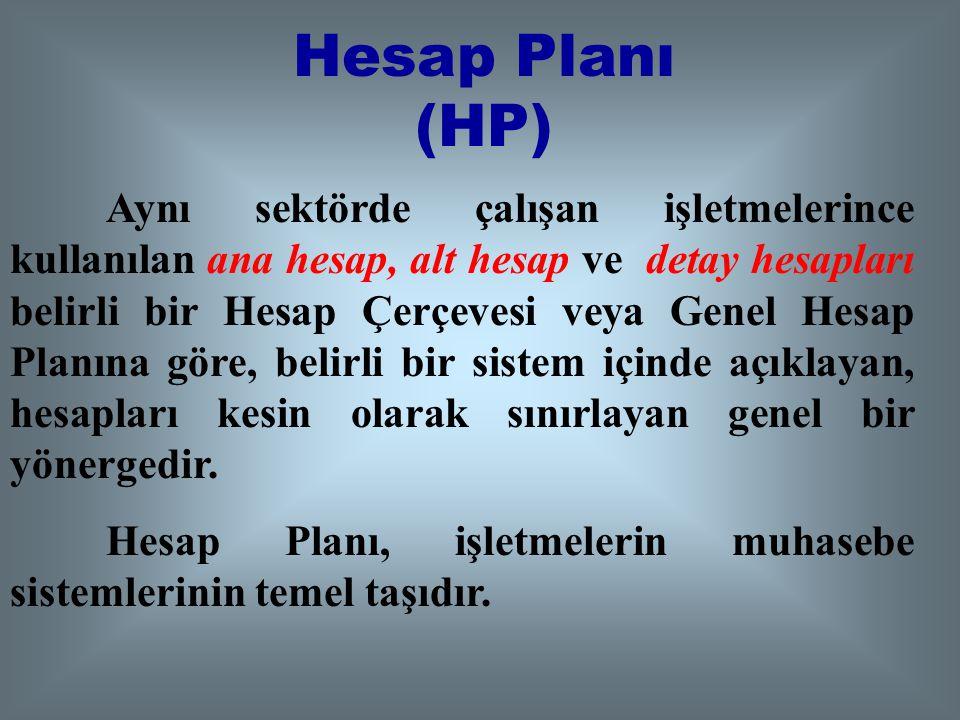 Hesap Planı (HP)