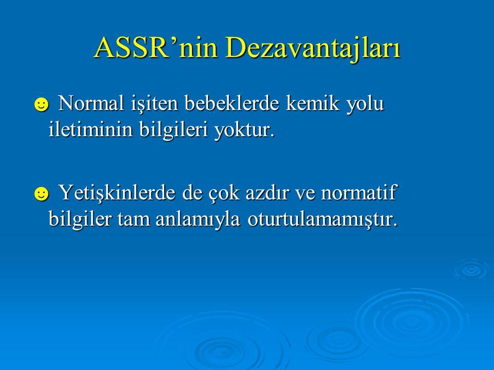 ASSR'nin Dezavantajları