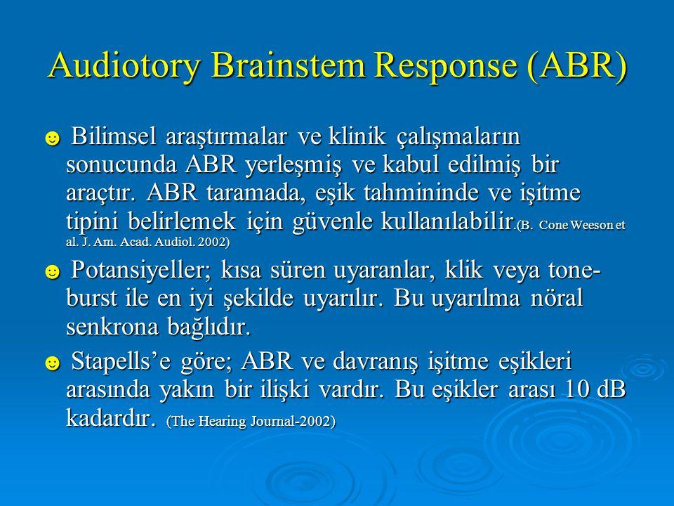 Audiotory Brainstem Response (ABR)