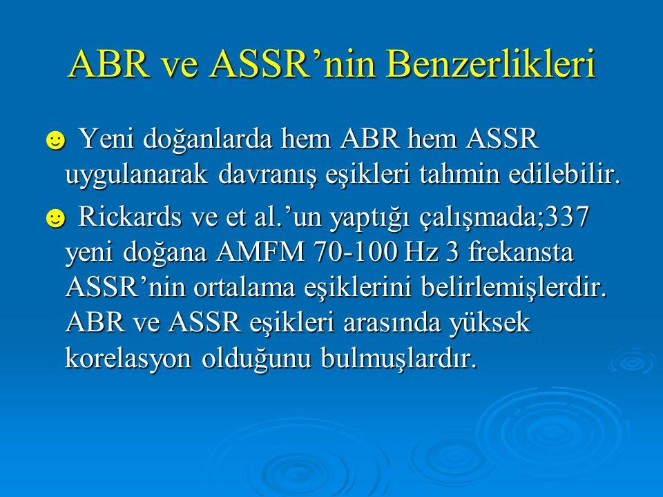 ABR ve ASSR'nin Benzerlikleri