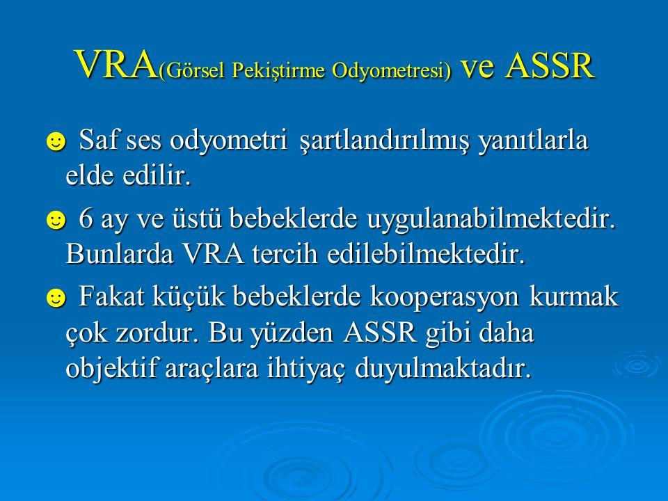 VRA(Görsel Pekiştirme Odyometresi) ve ASSR
