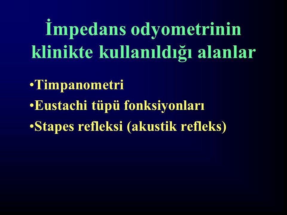 İmpedans odyometrinin klinikte kullanıldığı alanlar