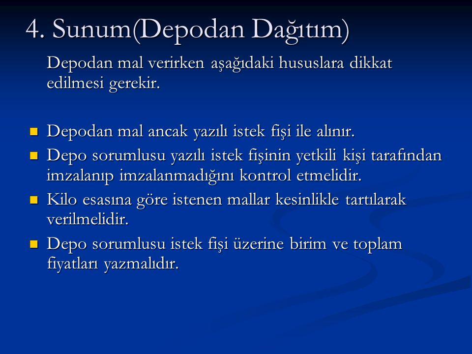 4. Sunum(Depodan Dağıtım)