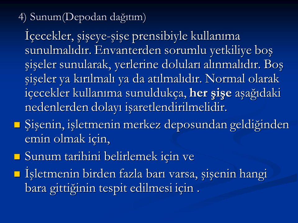 4) Sunum(Depodan dağıtım)