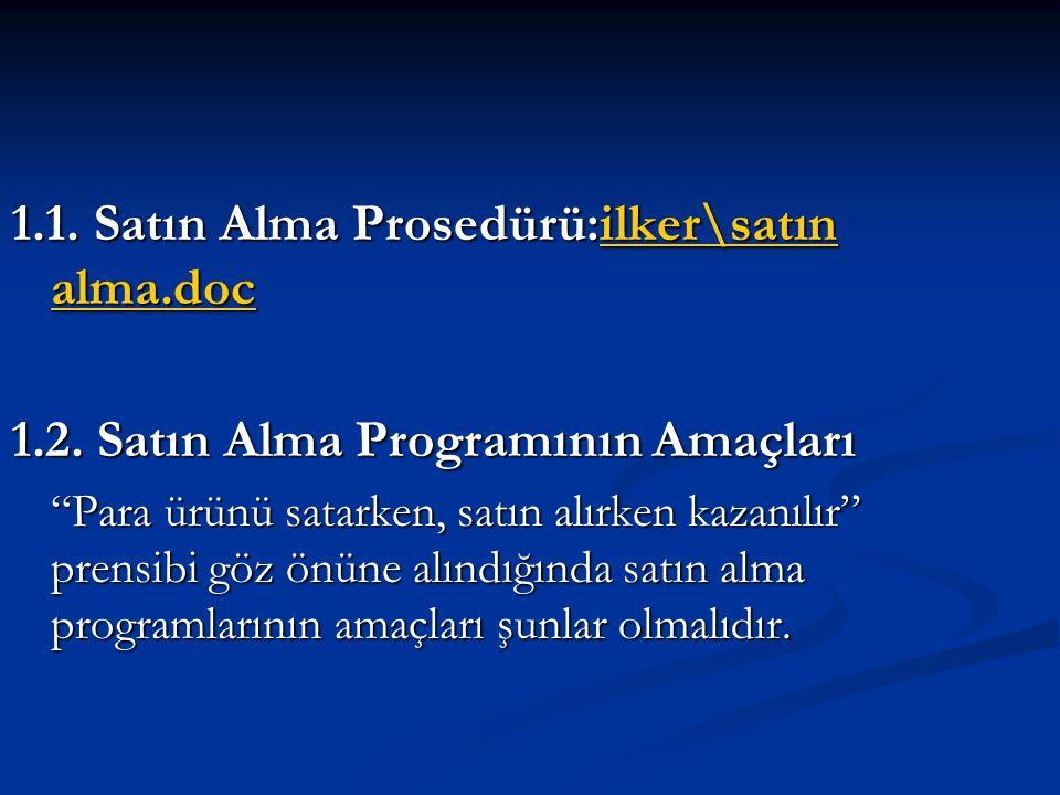 1.1. Satın Alma Prosedürü:ilker\satın alma.doc