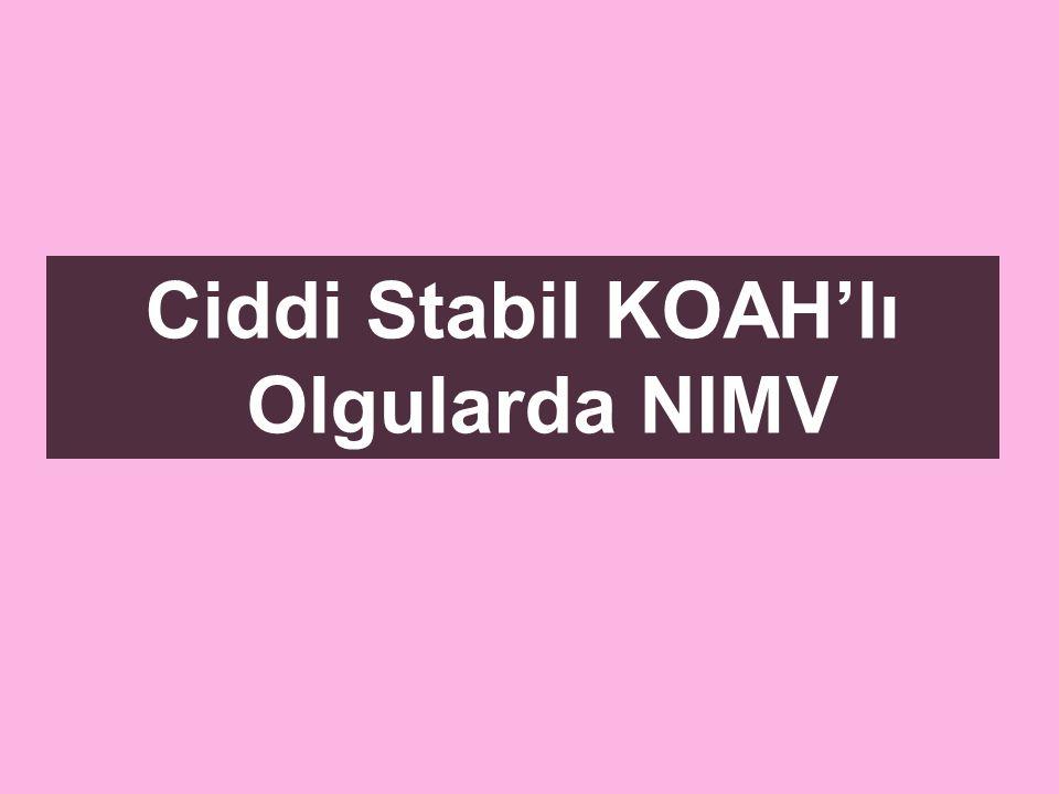Ciddi Stabil KOAH'lı Olgularda NIMV