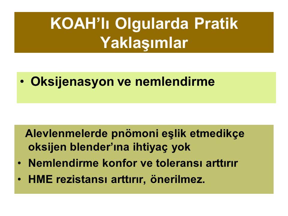 KOAH'lı Olgularda Pratik Yaklaşımlar