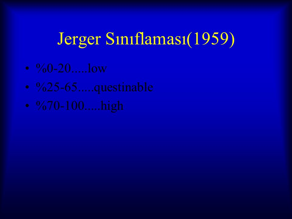 Jerger Sınıflaması(1959) %0-20.....low %25-65.....questinable