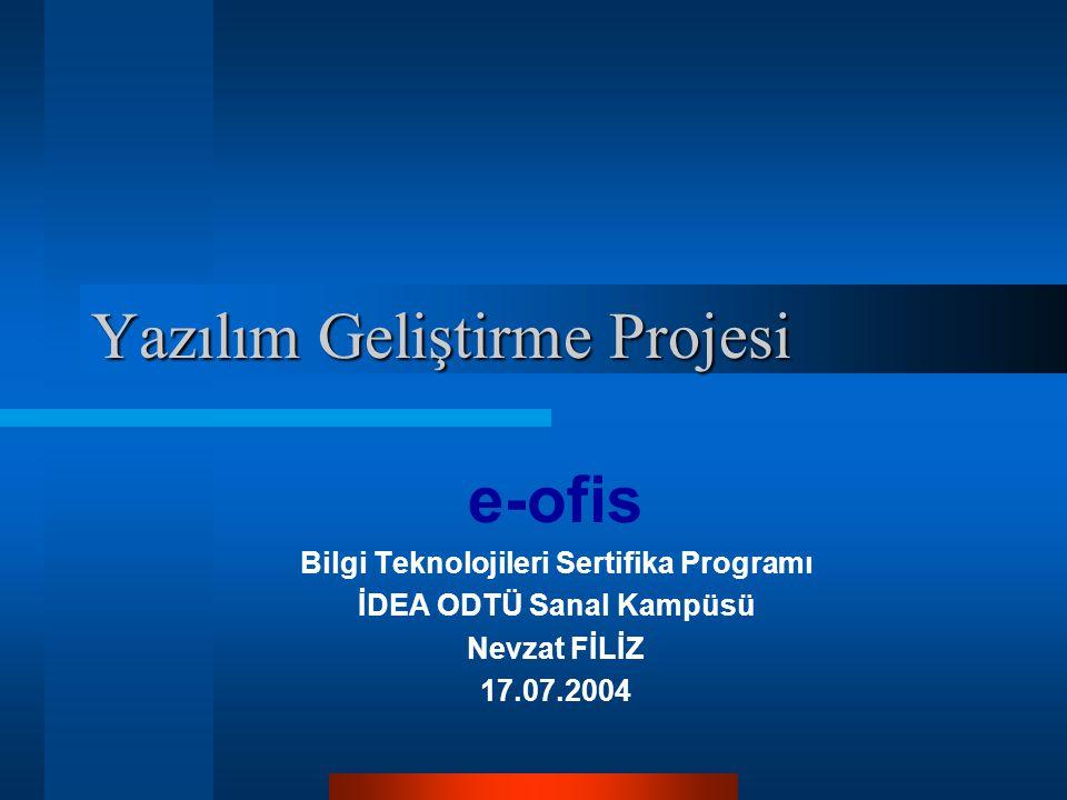 Yazılım Geliştirme Projesi