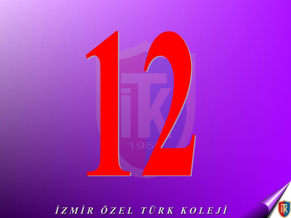 12 İ Z M İ R Ö Z E L T Ü R K K O L E J İ