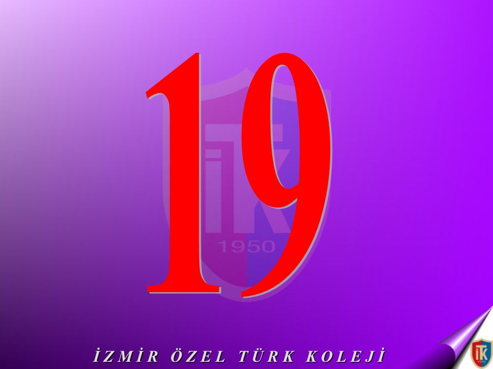 19 İ Z M İ R Ö Z E L T Ü R K K O L E J İ