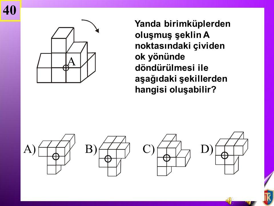 40 A) B) C) D)