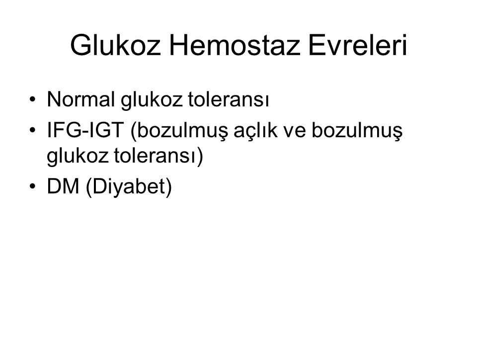 Glukoz Hemostaz Evreleri
