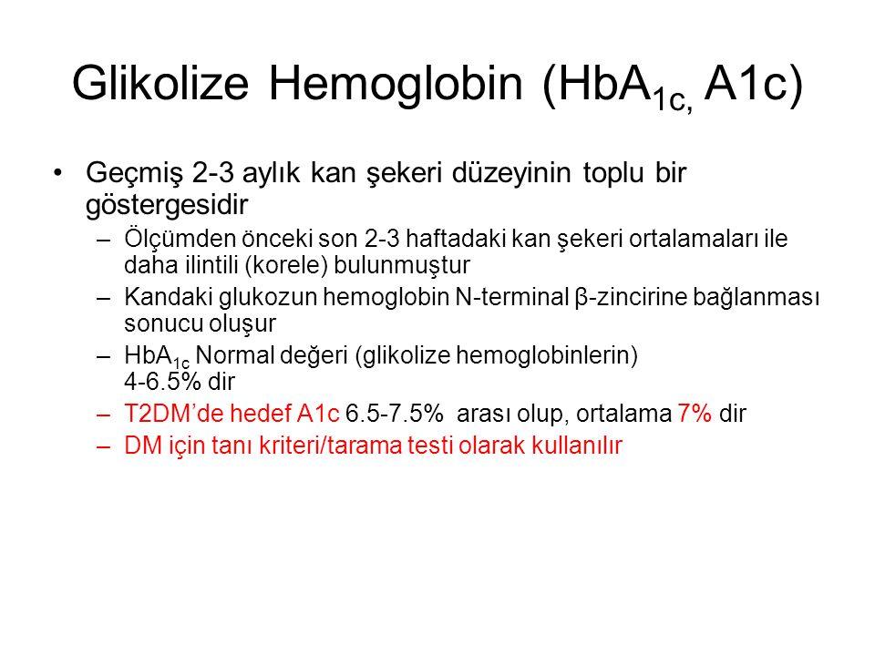 Glikolize Hemoglobin (HbA1c, A1c)