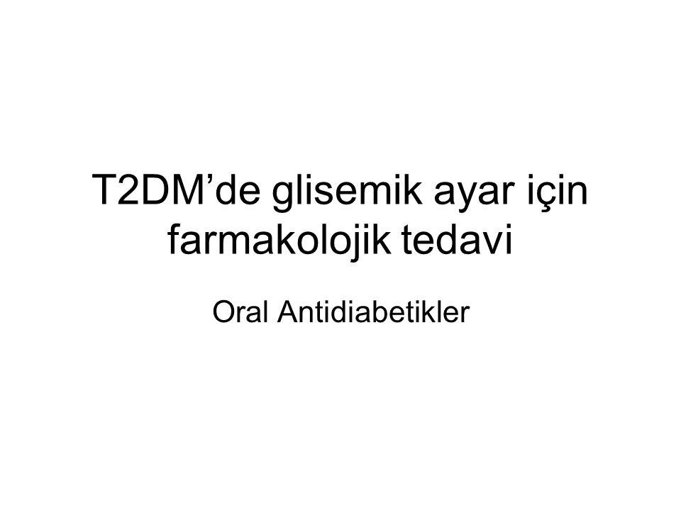 T2DM'de glisemik ayar için farmakolojik tedavi