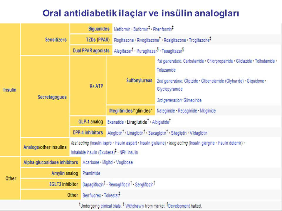 Oral antidiabetik ilaçlar ve insülin analogları