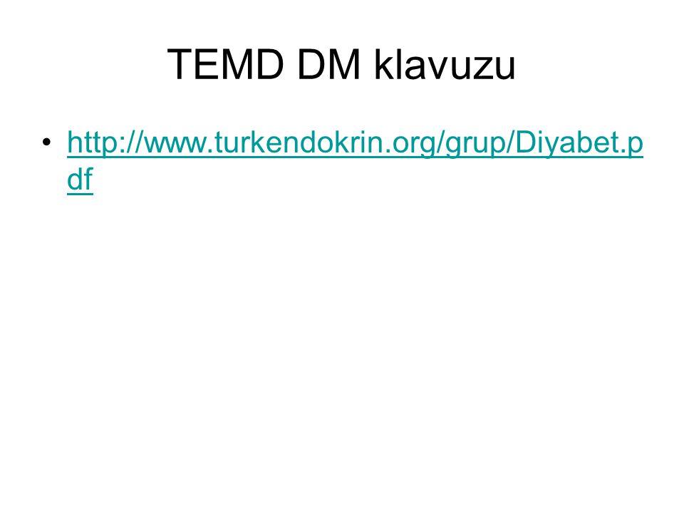 TEMD DM klavuzu http://www.turkendokrin.org/grup/Diyabet.pdf