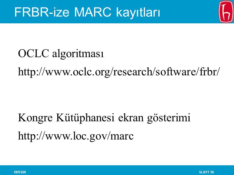 FRBR-ize MARC kayıtları