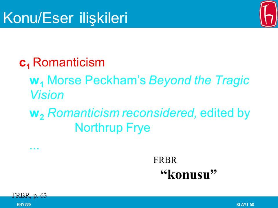 Konu/Eser ilişkileri konusu c1 Romanticism