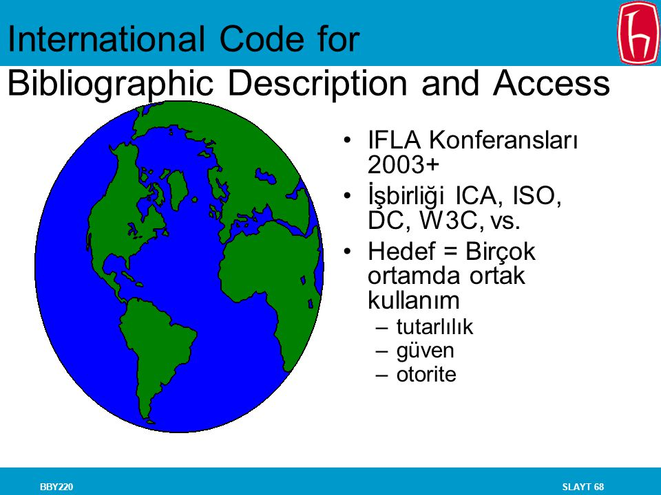 International Code for Bibliographic Description and Access