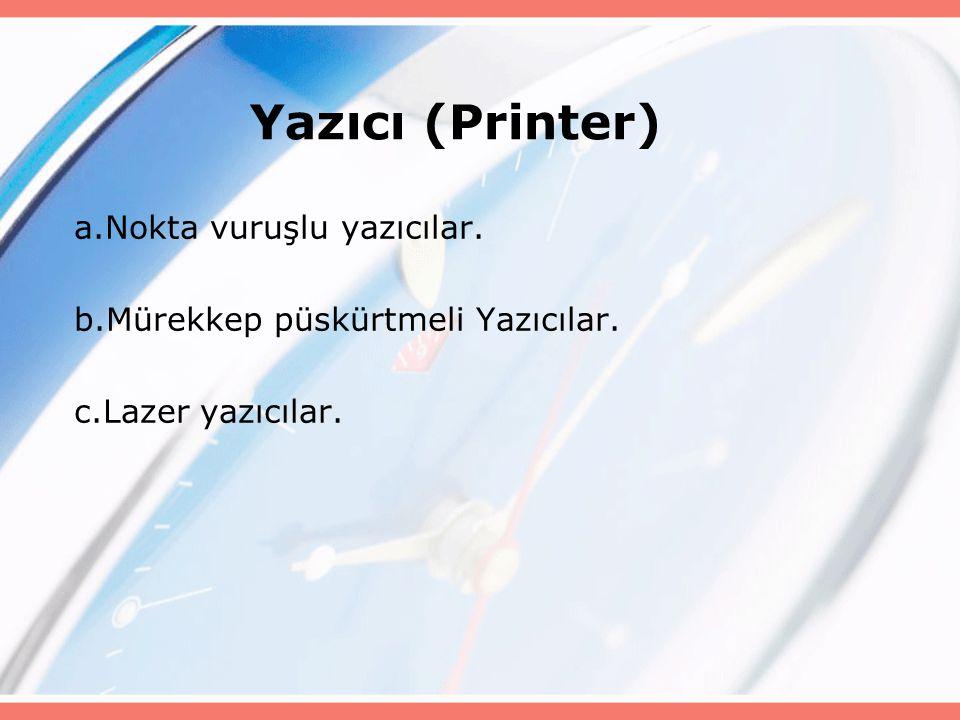 Yazıcı (Printer) a.Nokta vuruşlu yazıcılar.