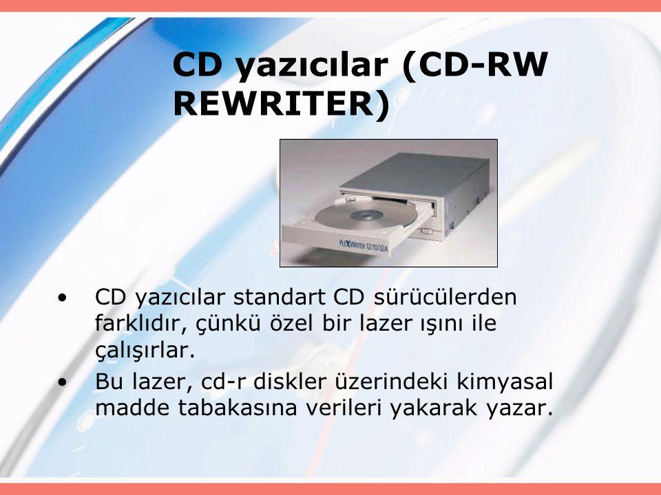 CD yazıcılar (CD-RW REWRITER)