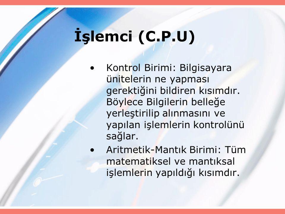 İşlemci (C.P.U)