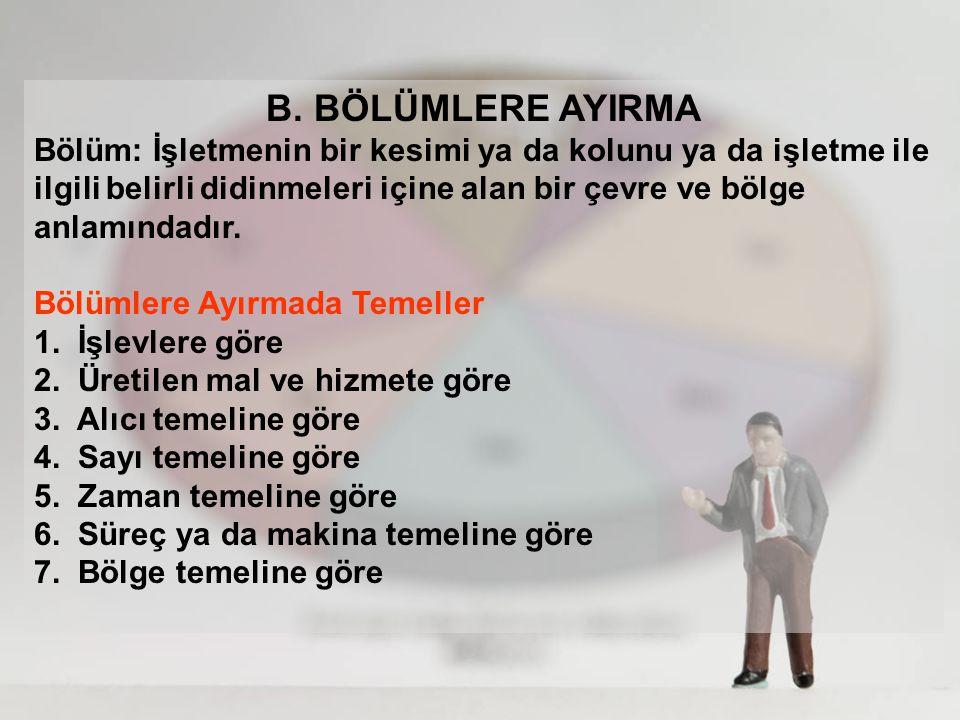 B. BÖLÜMLERE AYIRMA