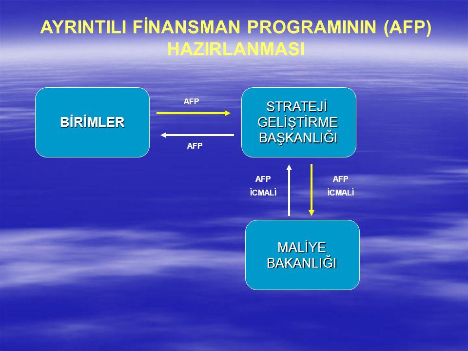AYRINTILI FİNANSMAN PROGRAMININ (AFP) HAZIRLANMASI