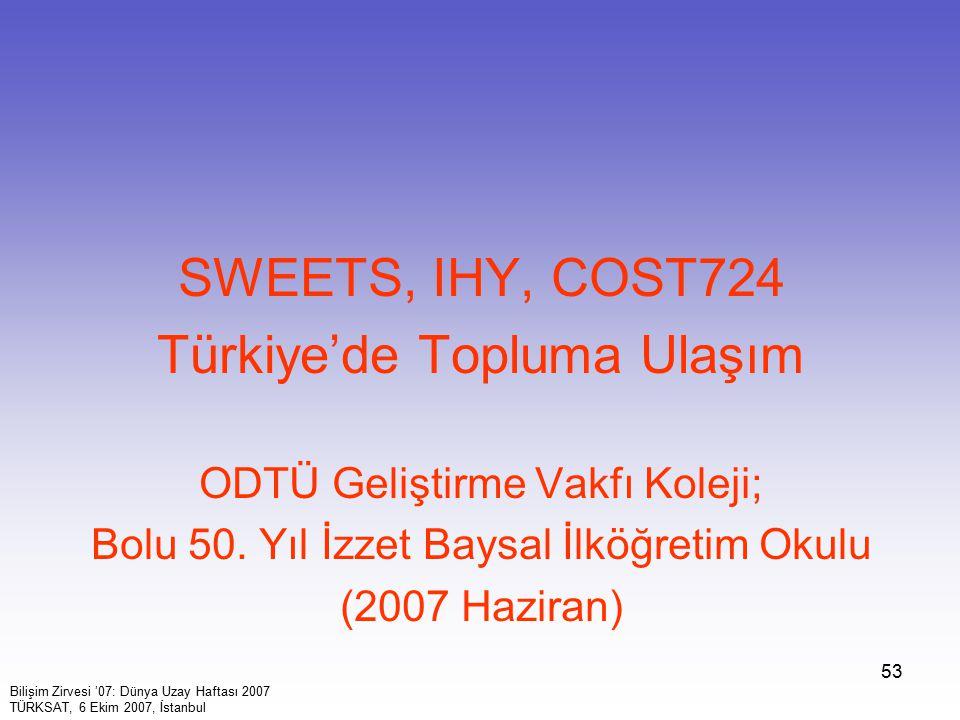 Türkiye'de Topluma Ulaşım