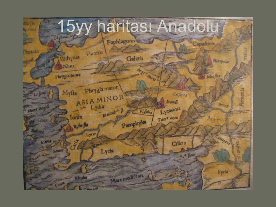 15yy haritası Anadolu