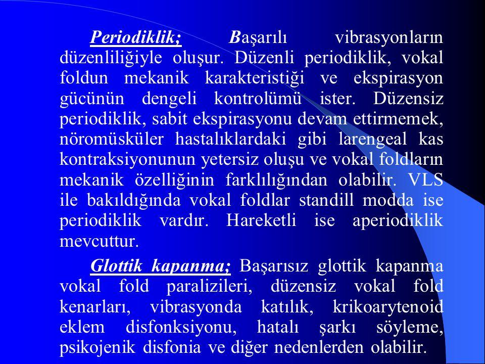 Periodiklik; Başarılı vibrasyonların düzenliliğiyle oluşur