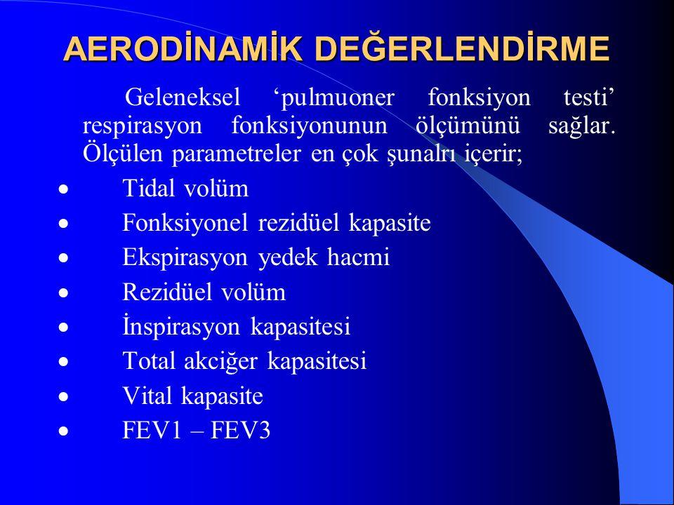 AERODİNAMİK DEĞERLENDİRME