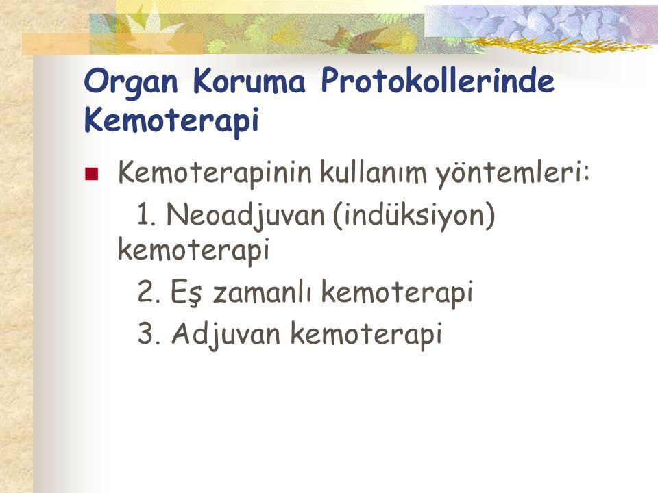 Organ Koruma Protokollerinde Kemoterapi