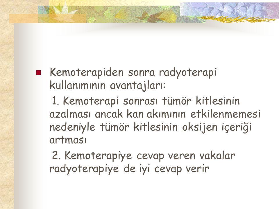 Kemoterapiden sonra radyoterapi kullanımının avantajları: