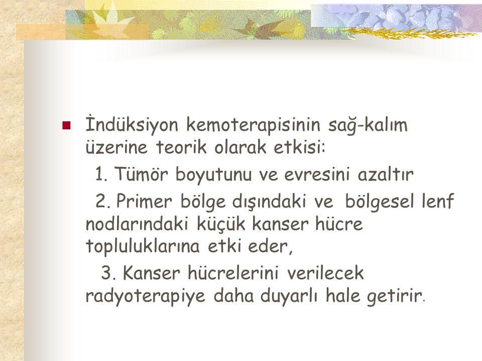 İndüksiyon kemoterapisinin sağ-kalım üzerine teorik olarak etkisi: