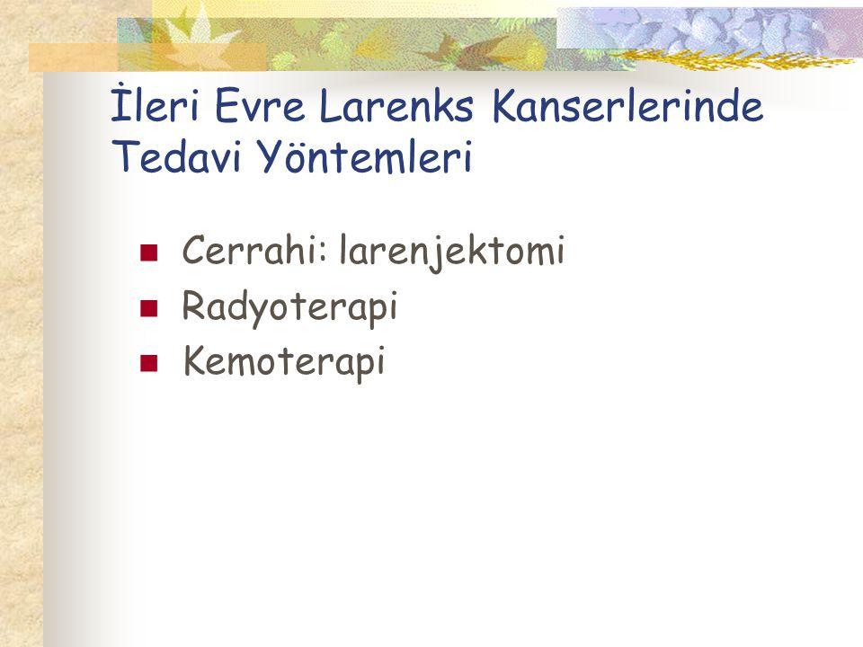 İleri Evre Larenks Kanserlerinde Tedavi Yöntemleri