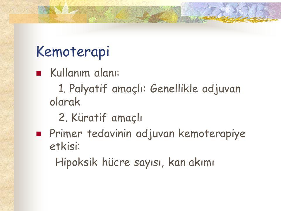 Kemoterapi Kullanım alanı: