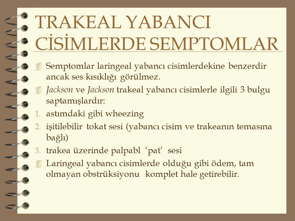 TRAKEAL YABANCI CİSİMLERDE SEMPTOMLAR