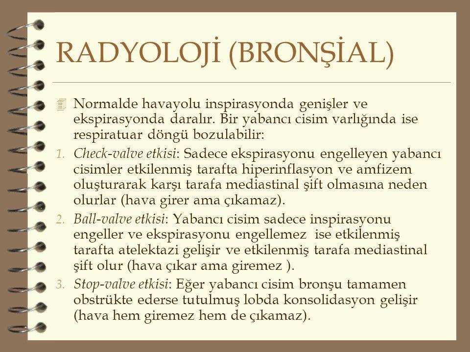 RADYOLOJİ (BRONŞİAL)