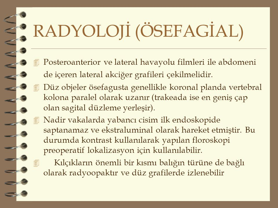 RADYOLOJİ (ÖSEFAGİAL)