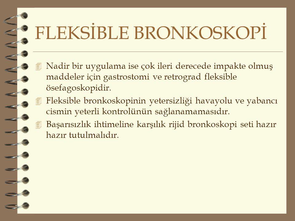 FLEKSİBLE BRONKOSKOPİ