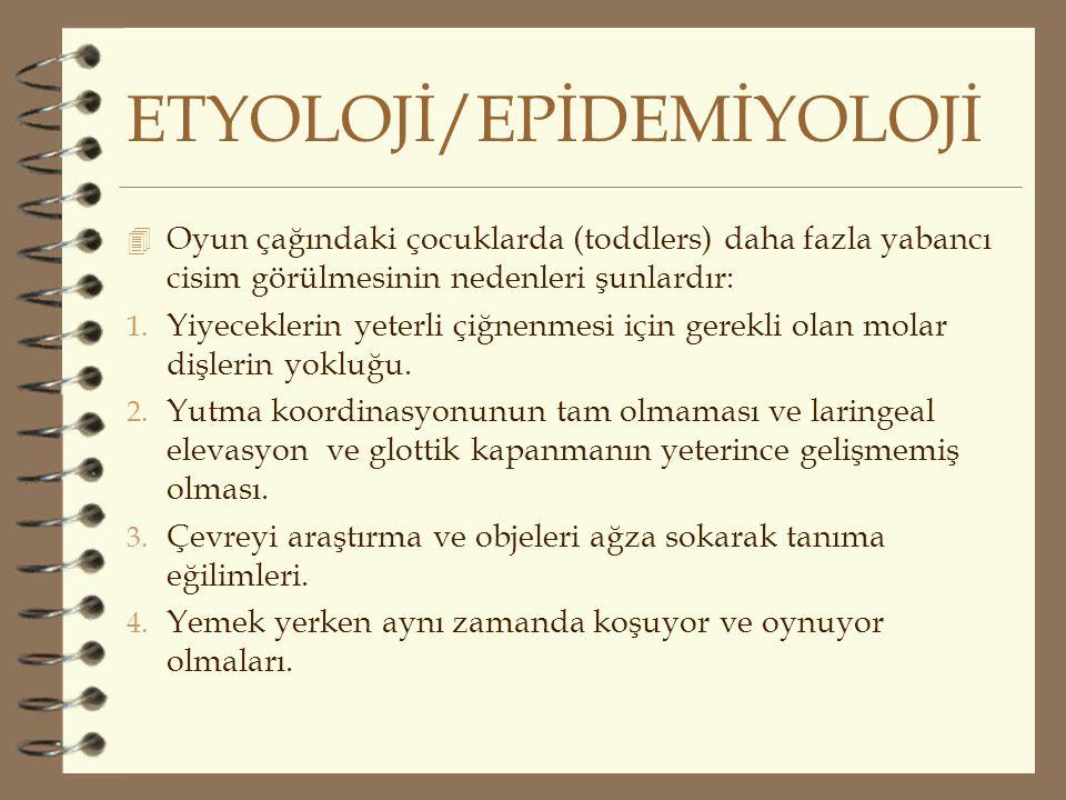 ETYOLOJİ/EPİDEMİYOLOJİ