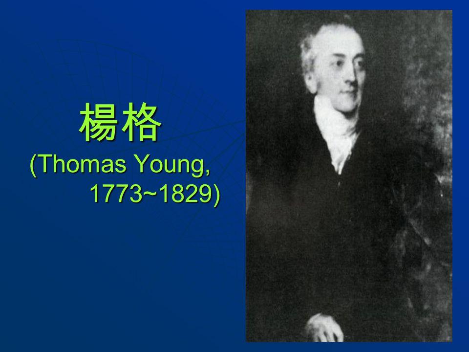 楊格 (Thomas Young, 1773~1829)
