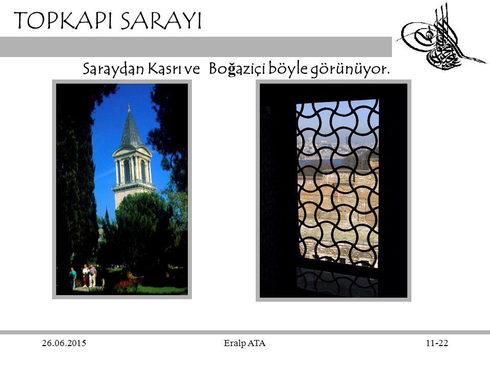 TOPKAPI SARAYI Saraydan Kasrı ve Boğaziçi böyle görünüyor. 17.04.2017