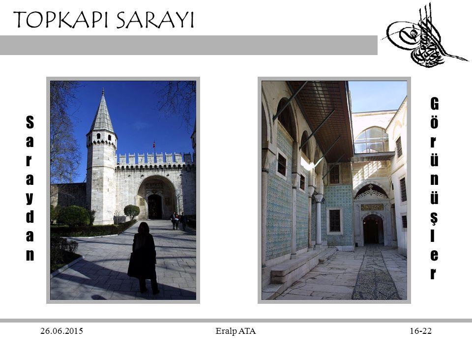 TOPKAPI SARAYI Görünüşler Saraydan 17.04.2017 Eralp ATA