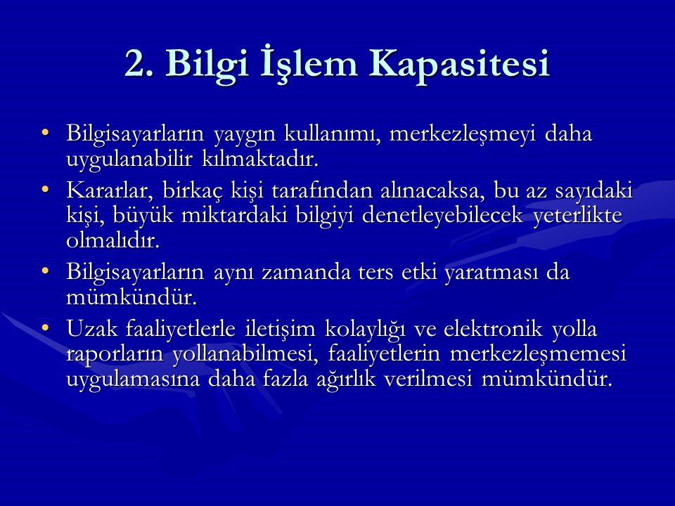 2. Bilgi İşlem Kapasitesi
